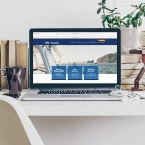 website design for brand MPB Financial