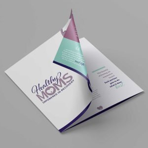 booklet design for Healthy Moms recovery program
