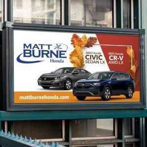billboard design for Matt Burne Honda brand