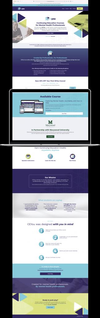 digital design plan for CE You website